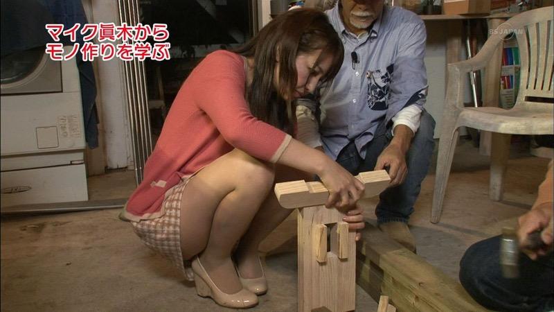 【女子アナキャプ画像】放映中に図らずもエッチな姿を晒してしまった女子アナ事故画像 32