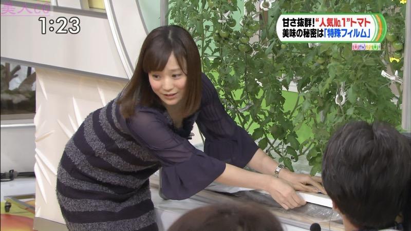 【女子アナキャプ画像】放映中に図らずもエッチな姿を晒してしまった女子アナ事故画像 35