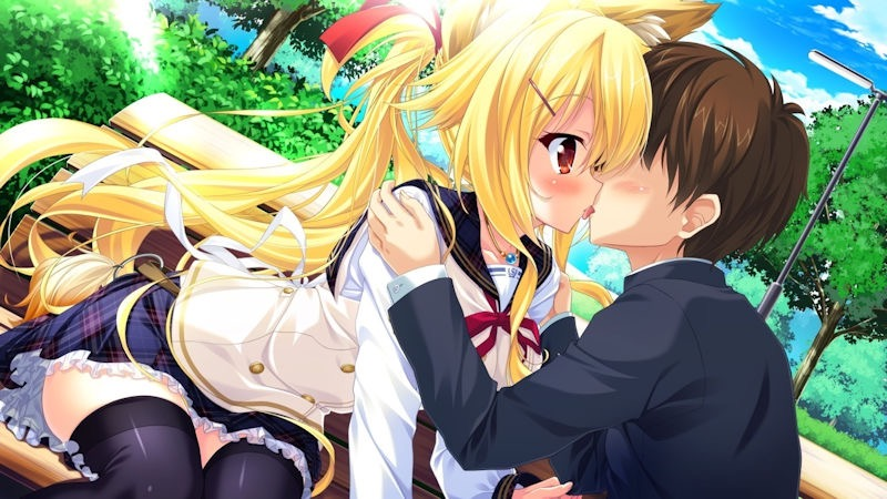 【キスの日二次エロ画像】美少女たちが涎を垂らしながら濃厚なキスで蕩けちゃうセックス画像 13