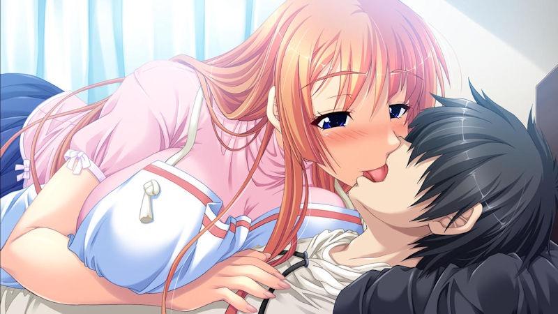 【キスの日二次エロ画像】美少女たちが涎を垂らしながら濃厚なキスで蕩けちゃうセックス画像 14