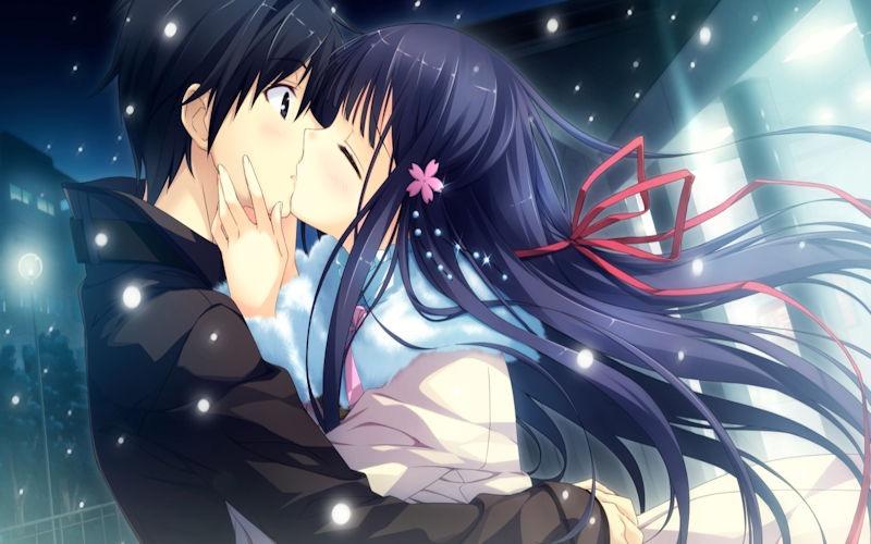 【キスの日二次エロ画像】美少女たちが涎を垂らしながら濃厚なキスで蕩けちゃうセックス画像 18