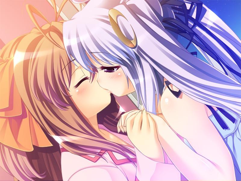 【キスの日二次エロ画像】美少女たちが涎を垂らしながら濃厚なキスで蕩けちゃうセックス画像 20