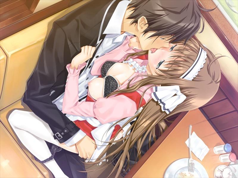 【キスの日二次エロ画像】美少女たちが涎を垂らしながら濃厚なキスで蕩けちゃうセックス画像 28