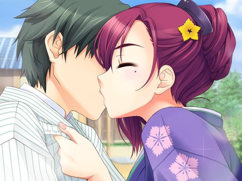 【キスの日二次エロ画像】美少女たちが涎を垂らしながら濃厚なキスで蕩けちゃうセックス画像 34