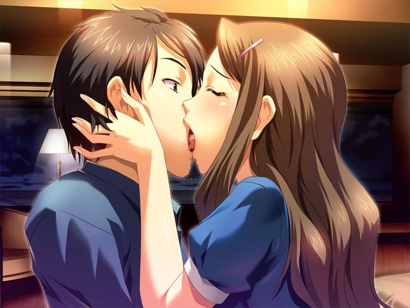 【キスの日二次エロ画像】美少女たちが涎を垂らしながら濃厚なキスで蕩けちゃうセックス画像 39