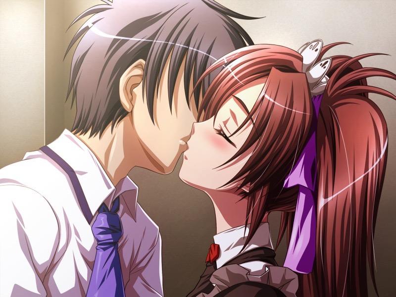 【キスの日二次エロ画像】美少女たちが涎を垂らしながら濃厚なキスで蕩けちゃうセックス画像 43