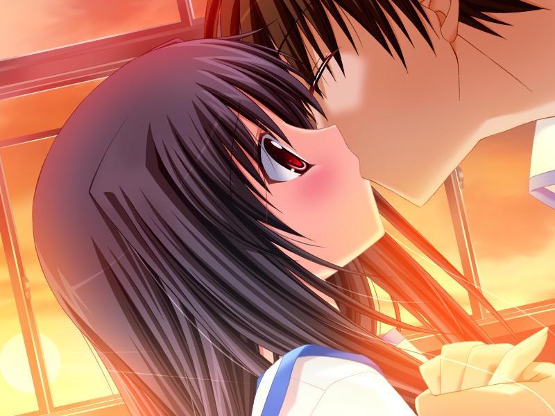 【キスの日二次エロ画像】美少女たちが涎を垂らしながら濃厚なキスで蕩けちゃうセックス画像 44