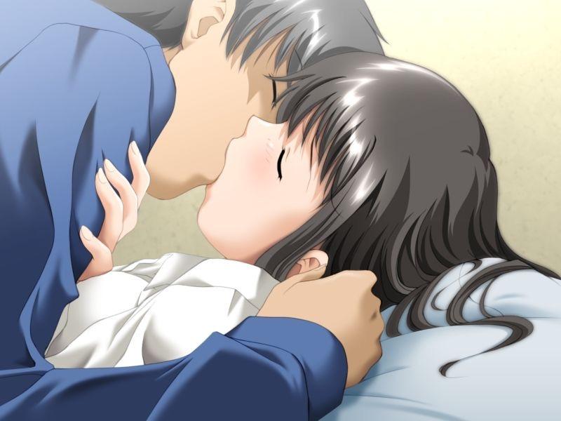 【キスの日二次エロ画像】美少女たちが涎を垂らしながら濃厚なキスで蕩けちゃうセックス画像 48