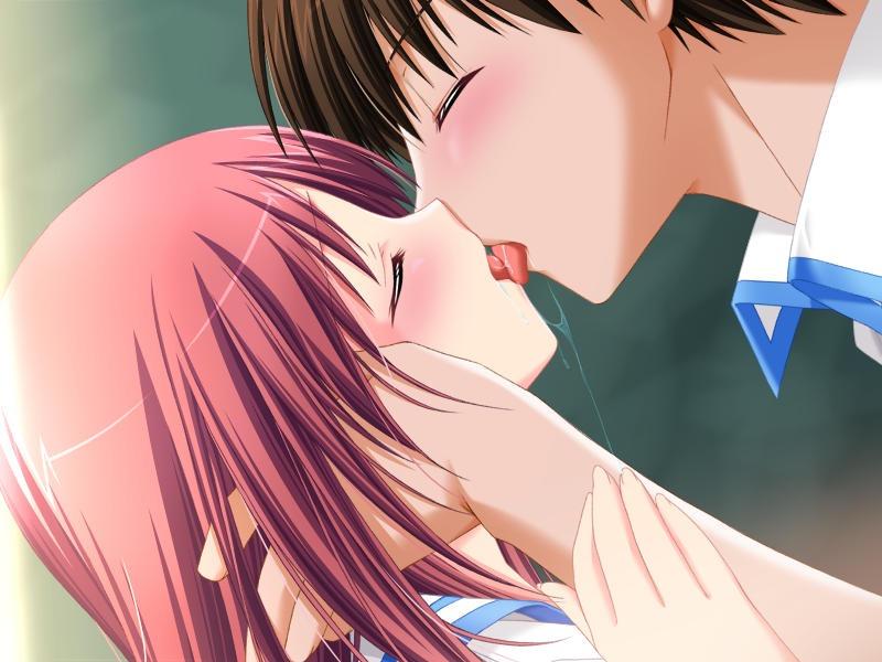 【キスの日二次エロ画像】美少女たちが涎を垂らしながら濃厚なキスで蕩けちゃうセックス画像 54