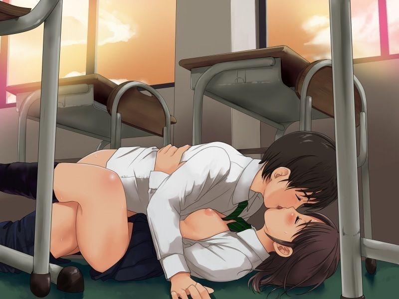 【キスの日二次エロ画像】美少女たちが涎を垂らしながら濃厚なキスで蕩けちゃうセックス画像 57