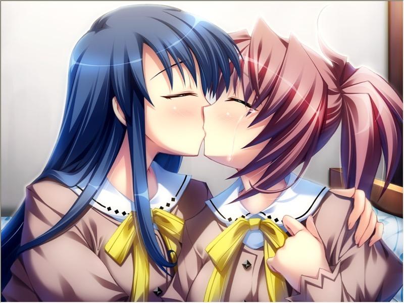 【キスの日二次エロ画像】美少女たちが涎を垂らしながら濃厚なキスで蕩けちゃうセックス画像 67