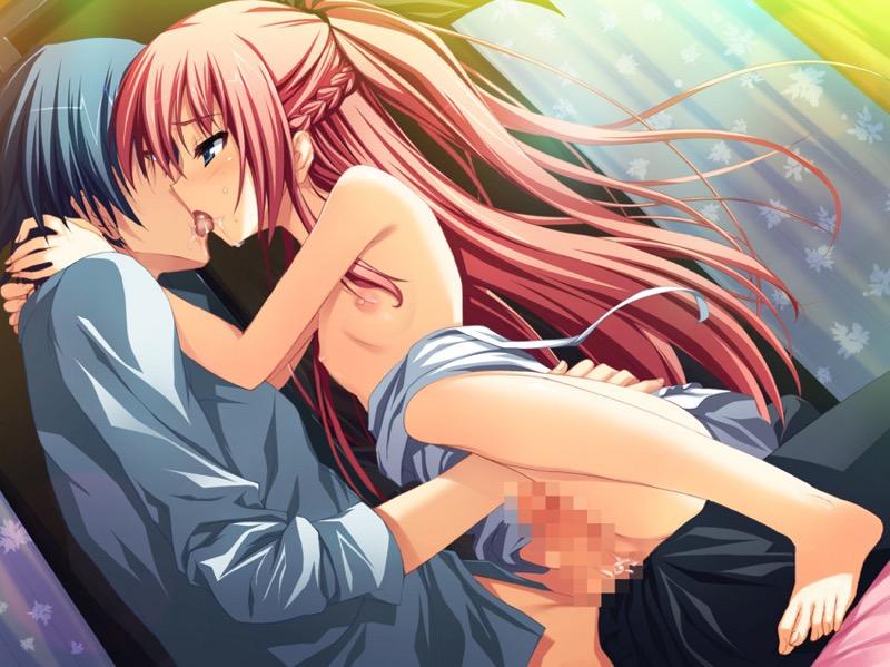 【キスの日二次エロ画像】美少女たちが涎を垂らしながら濃厚なキスで蕩けちゃうセックス画像 68