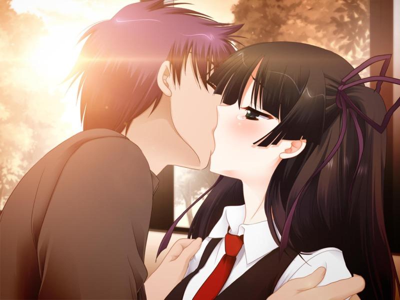【キスの日二次エロ画像】美少女たちが涎を垂らしながら濃厚なキスで蕩けちゃうセックス画像 73