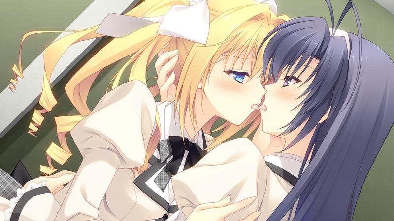【キスの日二次エロ画像】美少女たちが涎を垂らしながら濃厚なキスで蕩けちゃうセックス画像 74