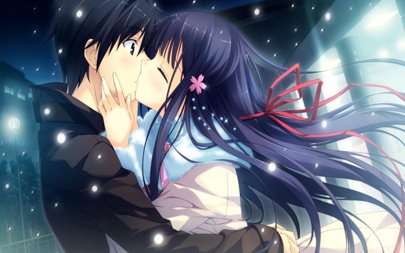 【キスの日二次エロ画像】美少女たちが涎を垂らしながら濃厚なキスで蕩けちゃうセックス画像 75