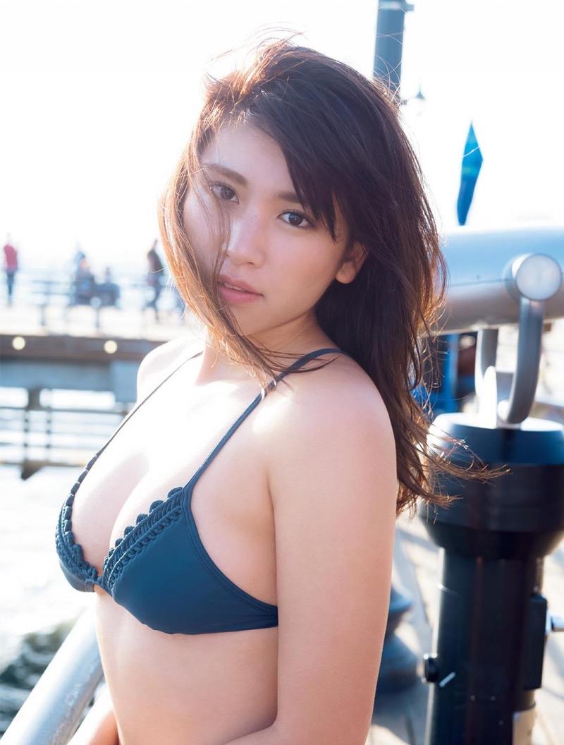 【久松郁実グラビア画像】ファッションモデルしてるだけじゃ勿体無い激エロFカップ巨乳美女! 52