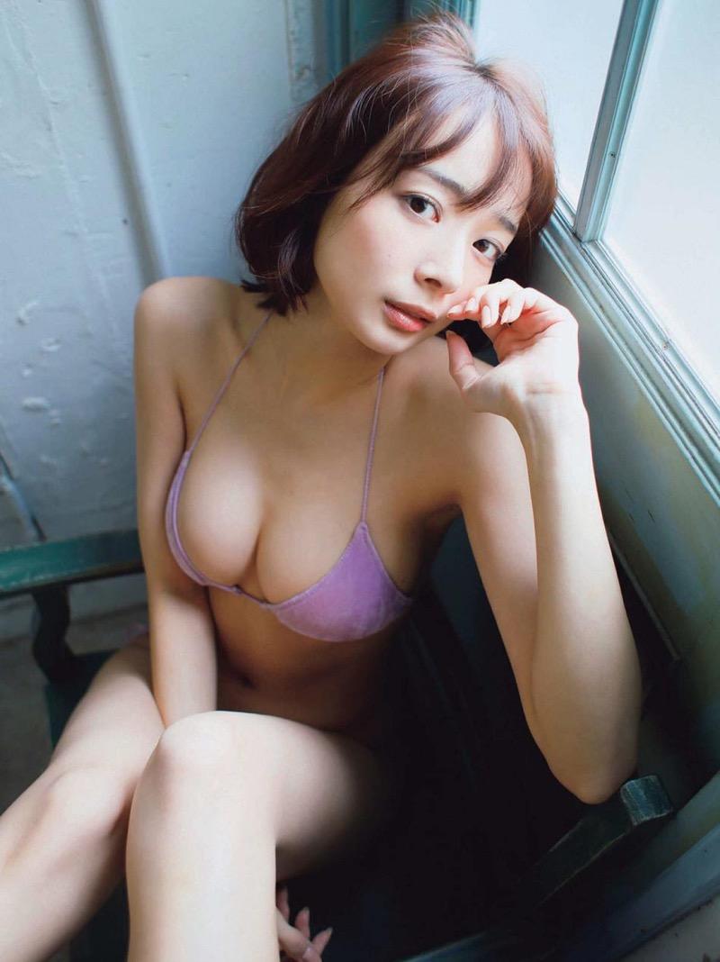 【岡田紗佳グラビア画像】日中ハーフで女流プロ雀士グラドルが役満ボディって呼ばれるとかwww 54