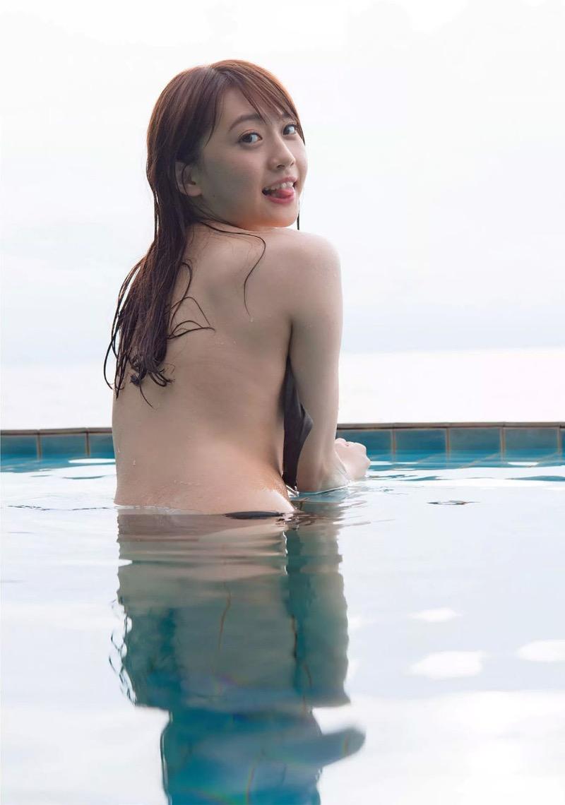 【木崎ゆりあグラビア画像】ゆるふわ系の髪型がめっちゃ可愛い元アイドルのエッチな水着姿 50