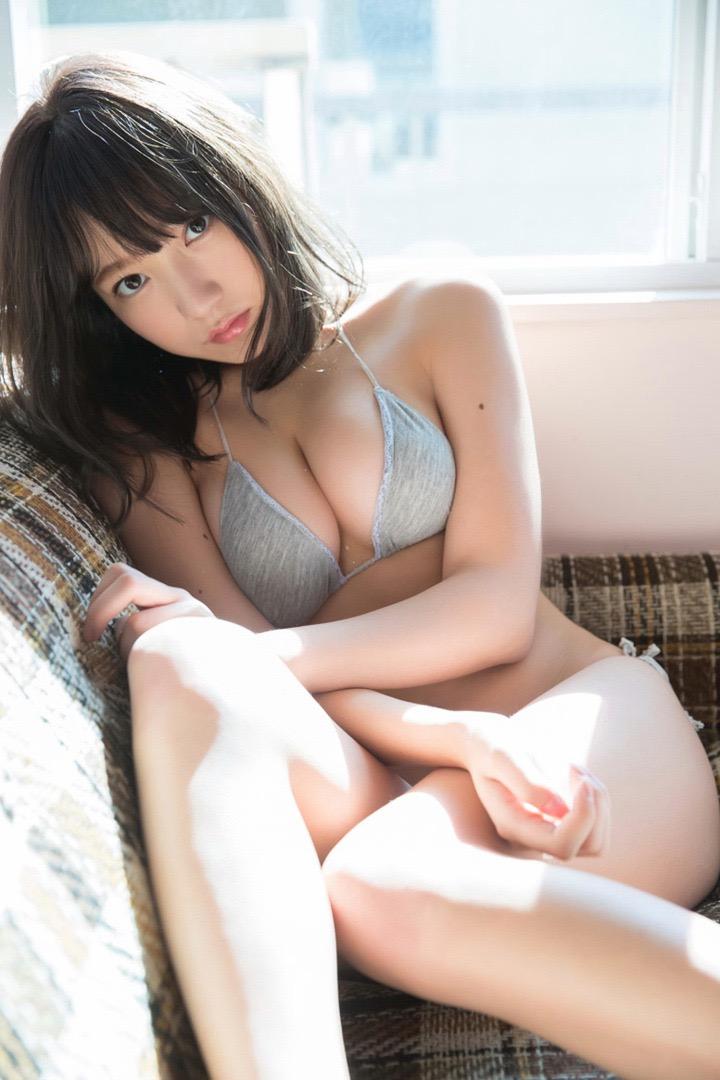 【京佳エロ画像】可愛い顔して脱ぐと飛び出す激エロFカップおっぱいがめちゃシコな美少女! 27