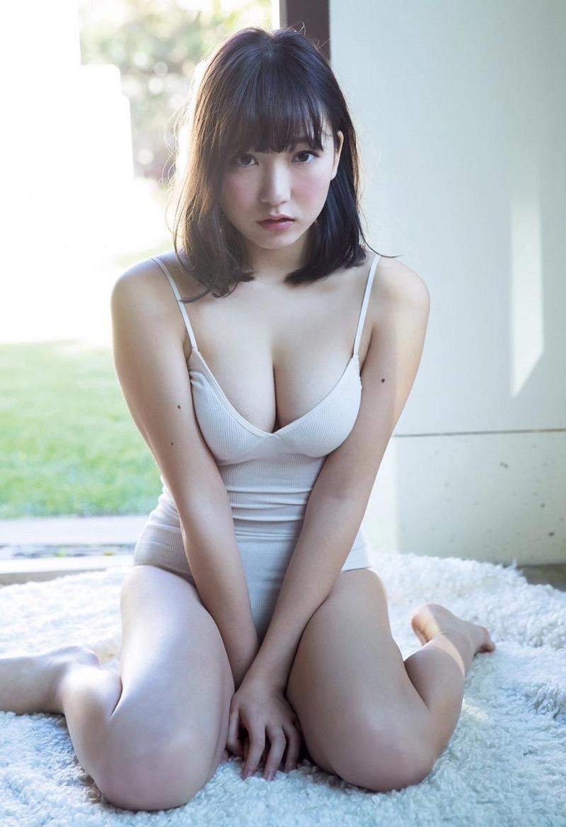 【京佳エロ画像】可愛い顔して脱ぐと飛び出す激エロFカップおっぱいがめちゃシコな美少女! 33