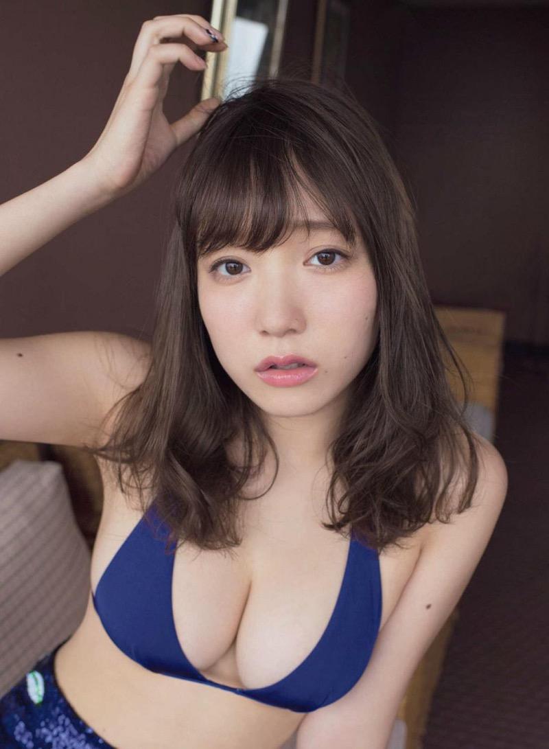 【京佳エロ画像】可愛い顔して脱ぐと飛び出す激エロFカップおっぱいがめちゃシコな美少女! 51