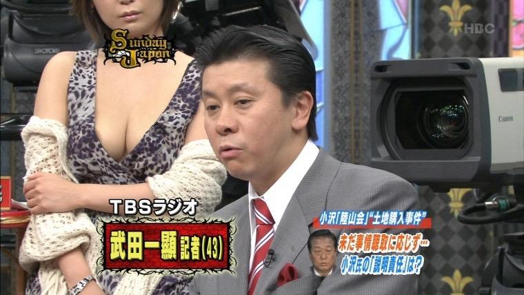 【放送事故エロ画像】テレビ放送中にタレントや女子アナが乳首が見えそうになってるんだがwwww 19