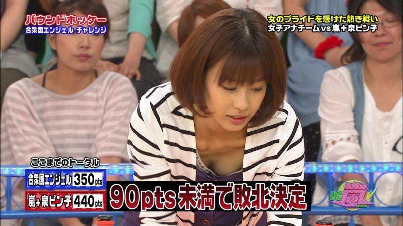 【放送事故エロ画像】テレビ放送中にタレントや女子アナが乳首が見えそうになってるんだがwwww 26