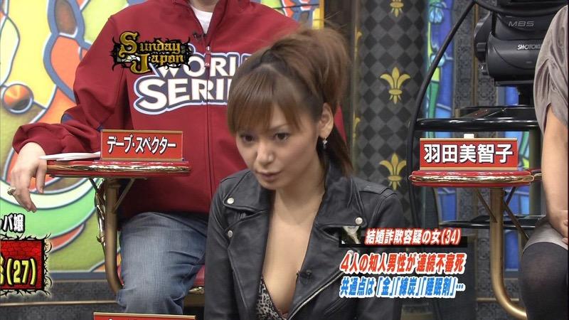 【放送事故エロ画像】テレビ放送中にタレントや女子アナが乳首が見えそうになってるんだがwwww 51