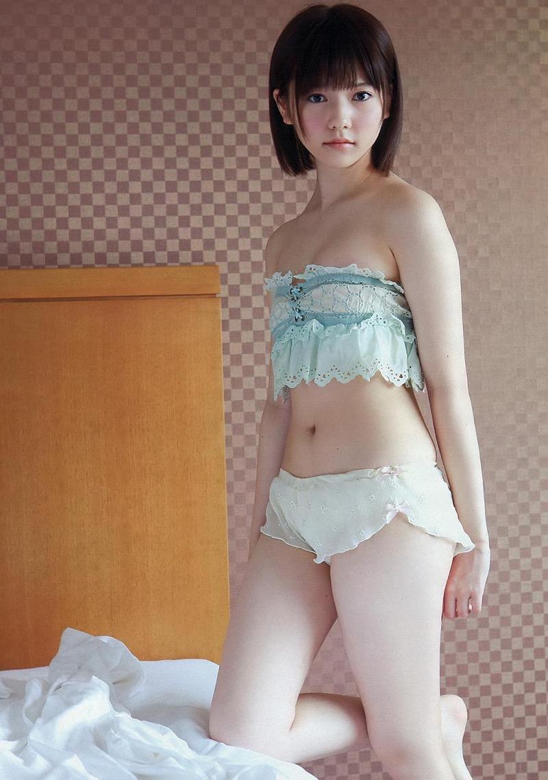 【島崎遥香グラビア画像】さらさらロングのボブヘアが似合ってエクボも可愛い元AKB48アイドル 57