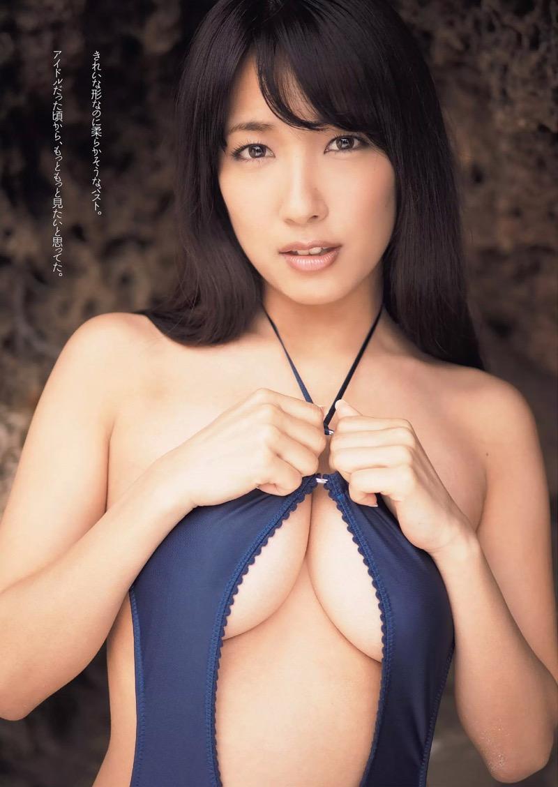 【変態水着エロ画像】フルヌードよりも恥ずかしいデザインがエロい水着姿のグラビア美女 65