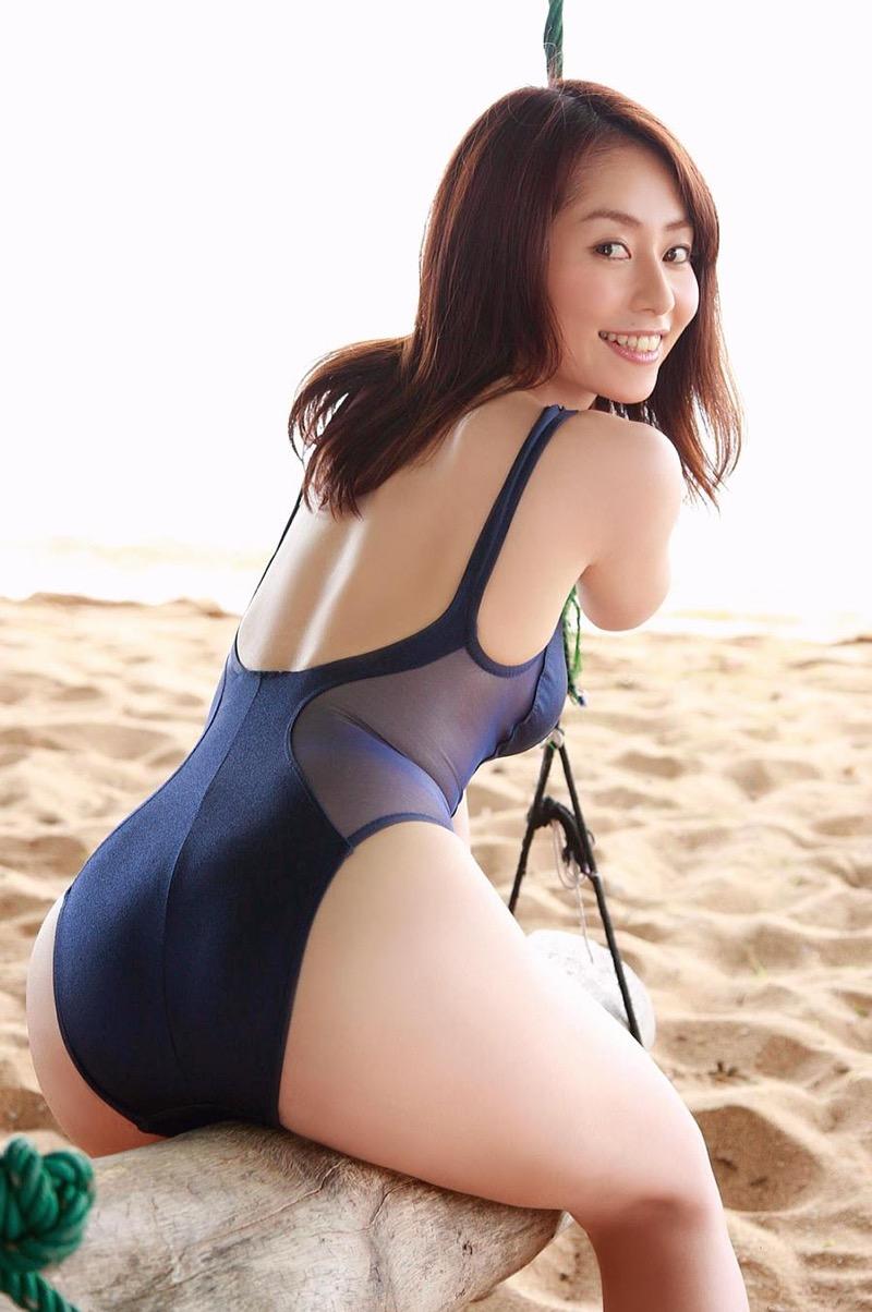 【谷桃子エロ画像】色白美肌なDカップボディでアラサーまでグラビアを続けてきたセクシー美熟女 52