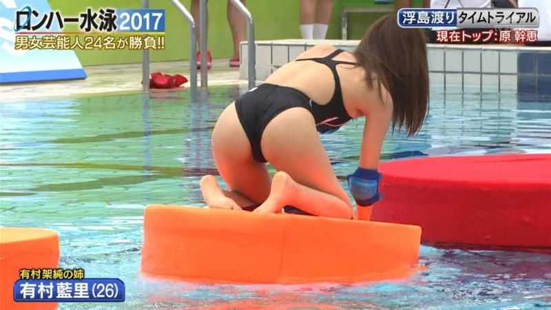 【お宝キャプ画像】女性タレントがロンドンハーツ水泳大会で競泳水着でハイレグ大開脚しちゃったwwww 77