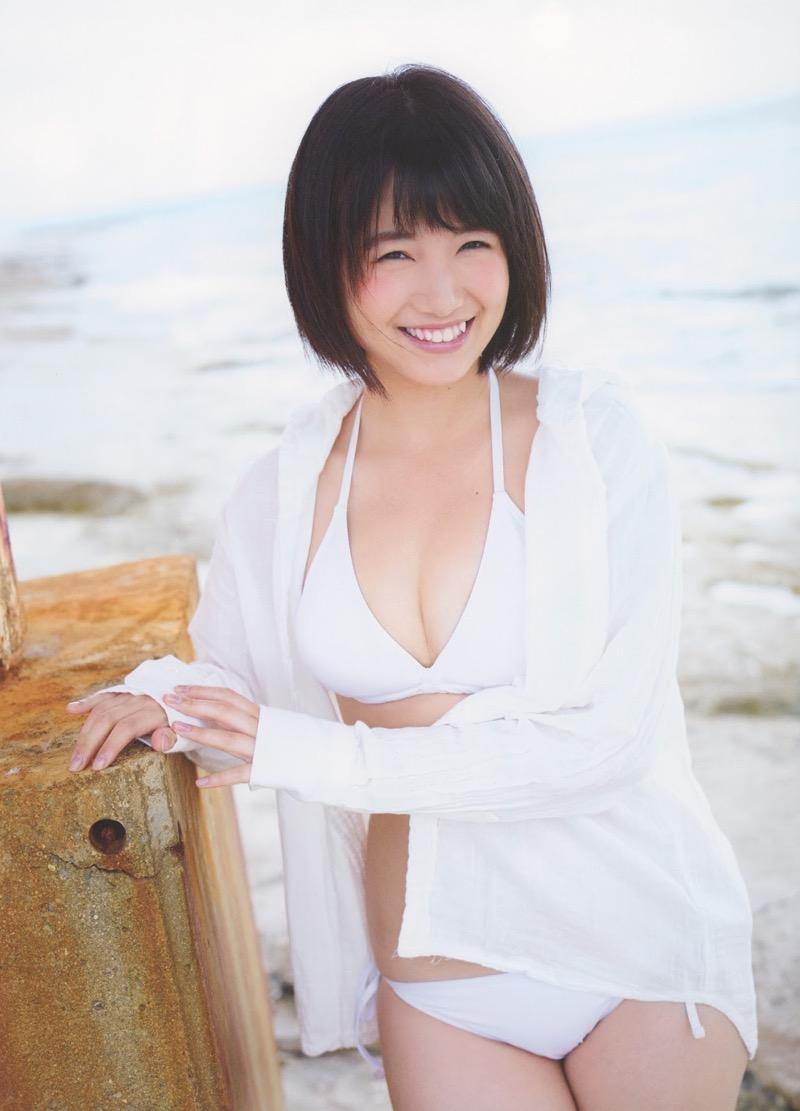 【朝長美桜グラビア画像】天使のように可愛らしい笑顔とショートヘアがとっても良く似合う美少女アイドル 68