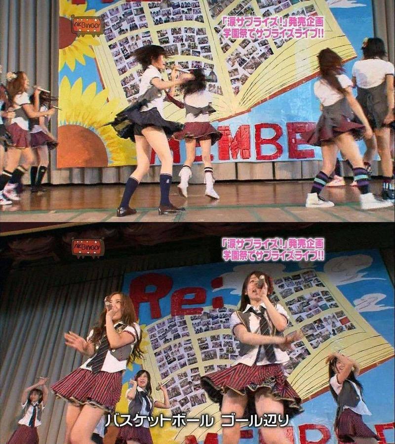 【AKB48放送事故画像】アイドルっていつでもどこでもエロいハプニングを期待されて大変だなぁw 18