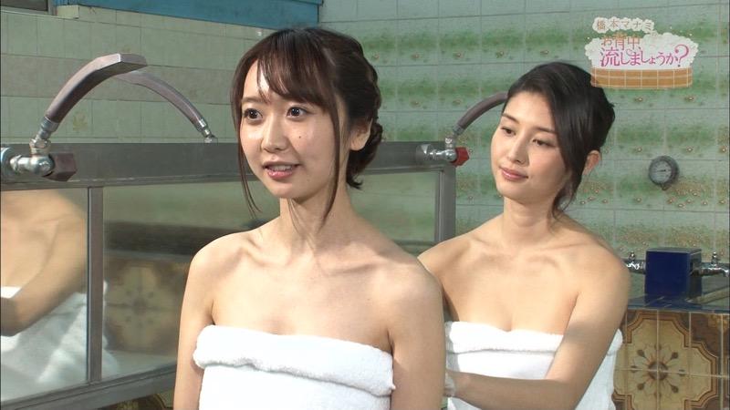 【温泉キャプ画像】橋本マナミがグラビアアイドルの背中を流しながら放送事故が起きそうなエロトークw 74