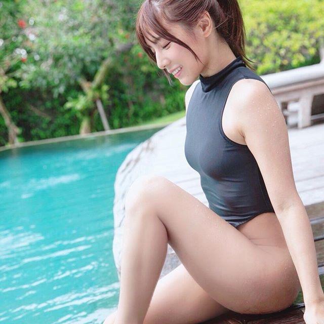【夏本あさみエロ画像】アイドルから転身した美少女グラドルのスレンダーな軟体ボディがめちゃシコ! 72