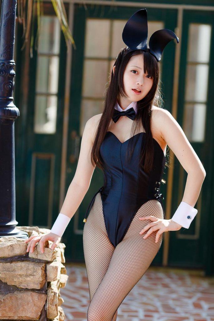 【バニーガール画像】セクシー美女がウサ耳着けてハイレグに網タイツを穿いてる姿がめちゃスコ! 28