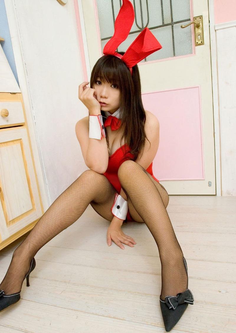 【バニーガール画像】セクシー美女がウサ耳着けてハイレグに網タイツを穿いてる姿がめちゃスコ! 66