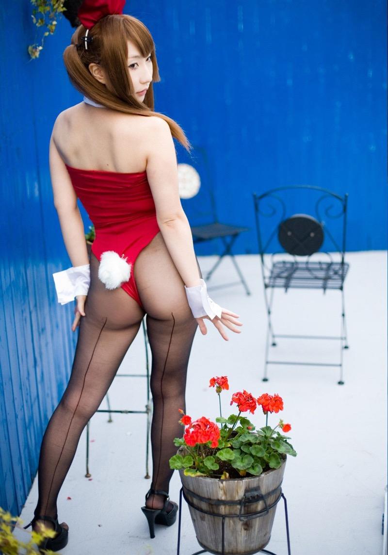 【バニーガール画像】セクシー美女がウサ耳着けてハイレグに網タイツを穿いてる姿がめちゃスコ! 75