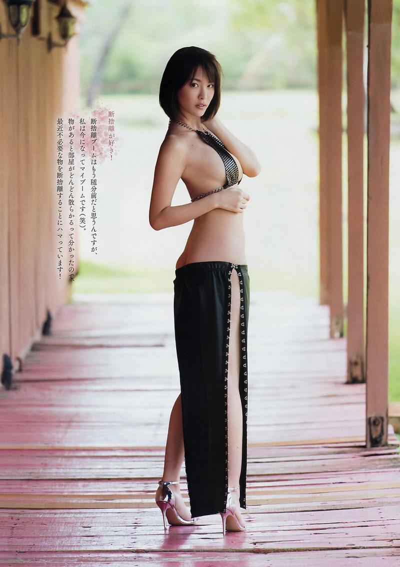 【奈月セナグラビア画像】モデル顔負けな長身にGカップ巨乳と巨尻のメリハリボディが激シコ! 64