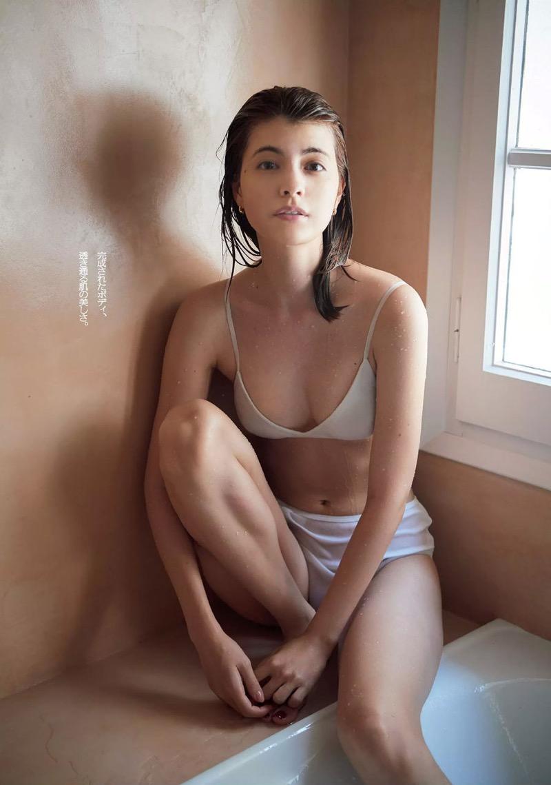 【マギーグラビア画像】高身長でスタイル抜群なハーフ美人モデルのセクシーなランジェリー姿 53