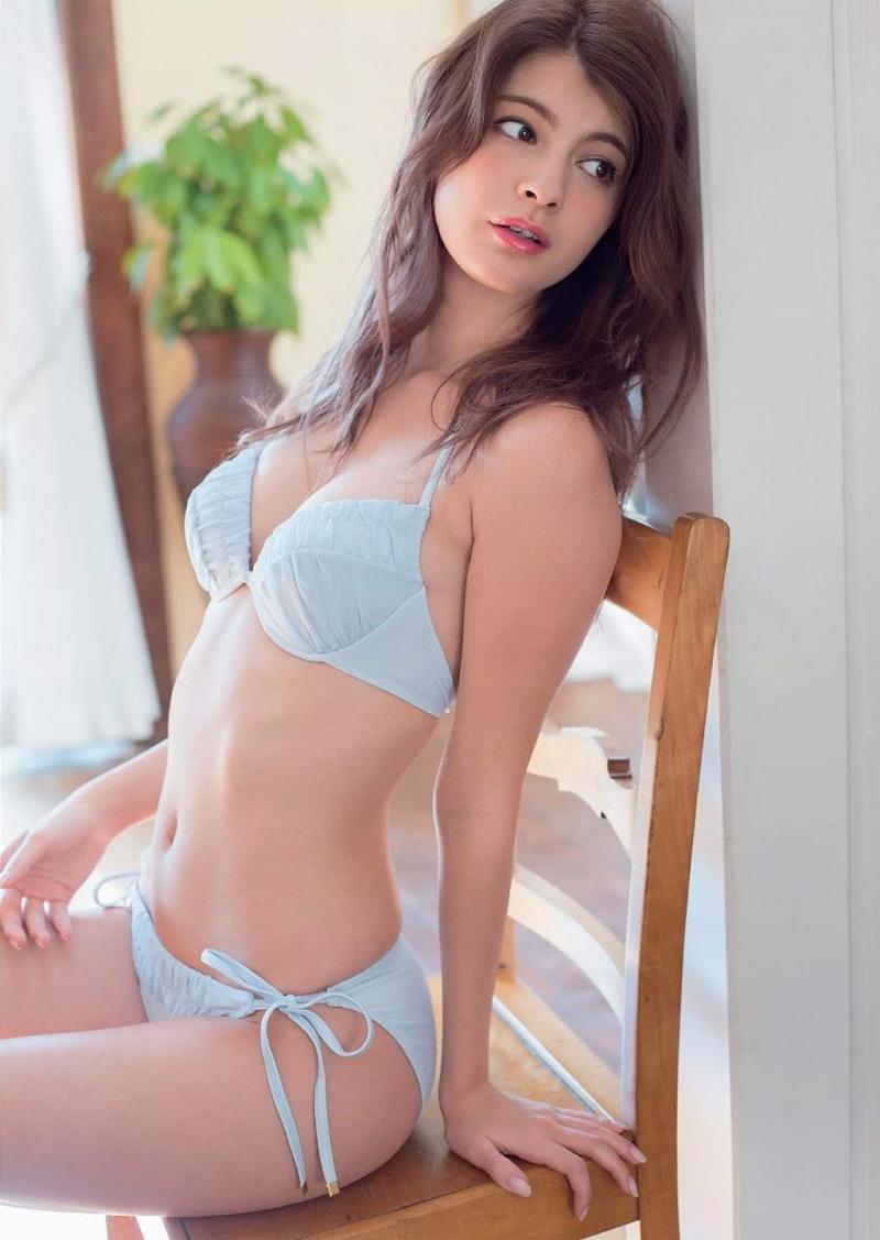 【マギーグラビア画像】高身長でスタイル抜群なハーフ美人モデルのセクシーなランジェリー姿 55