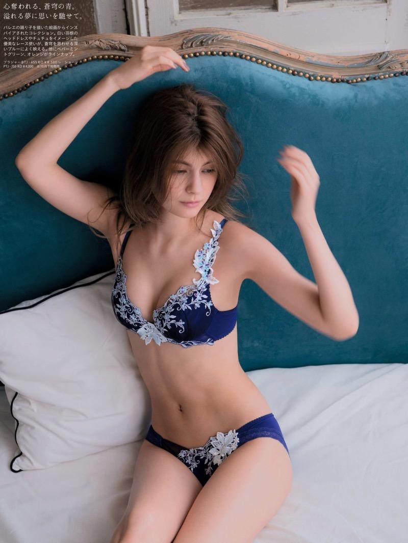 【マギーグラビア画像】高身長でスタイル抜群なハーフ美人モデルのセクシーなランジェリー姿 77