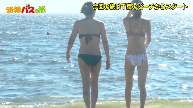 【放送事故ポロリ画像】際どい水着でテレビ出演したせいでオッパイとマンコが見えそうなんだがwwww 44