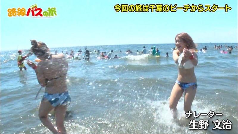【放送事故ポロリ画像】際どい水着でテレビ出演したせいでオッパイとマンコが見えそうなんだがwwww 51