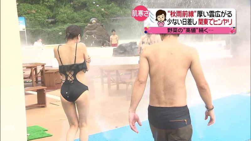【放送事故ポロリ画像】際どい水着でテレビ出演したせいでオッパイとマンコが見えそうなんだがwwww 57