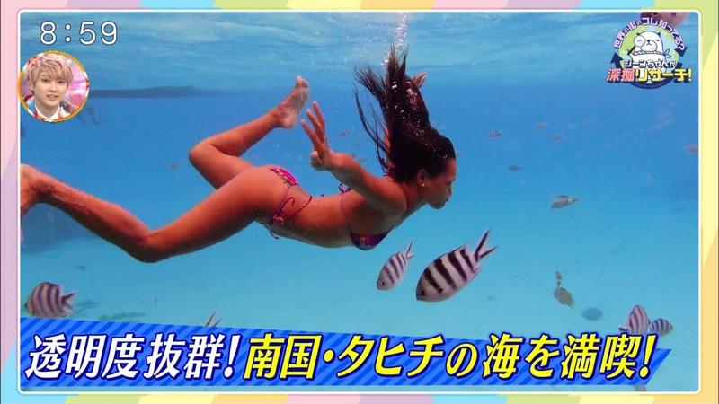 【放送事故ポロリ画像】際どい水着でテレビ出演したせいでオッパイとマンコが見えそうなんだがwwww 72