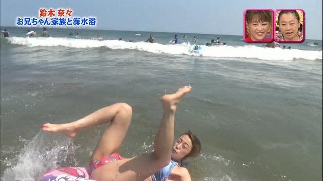 【放送事故画像】24時間テレビでおっぱいポロリしかけた鈴木奈々の大開脚が恥ずかし過ぎたwwww 11