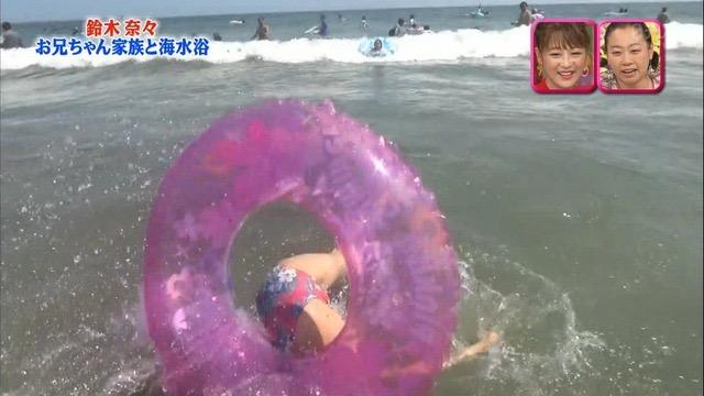 【放送事故画像】24時間テレビでおっぱいポロリしかけた鈴木奈々の大開脚が恥ずかし過ぎたwwww 12