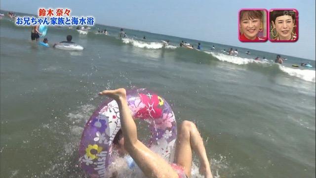 【放送事故画像】24時間テレビでおっぱいポロリしかけた鈴木奈々の大開脚が恥ずかし過ぎたwwww 13